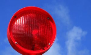 Warnung, Stopp, Rote Lampe