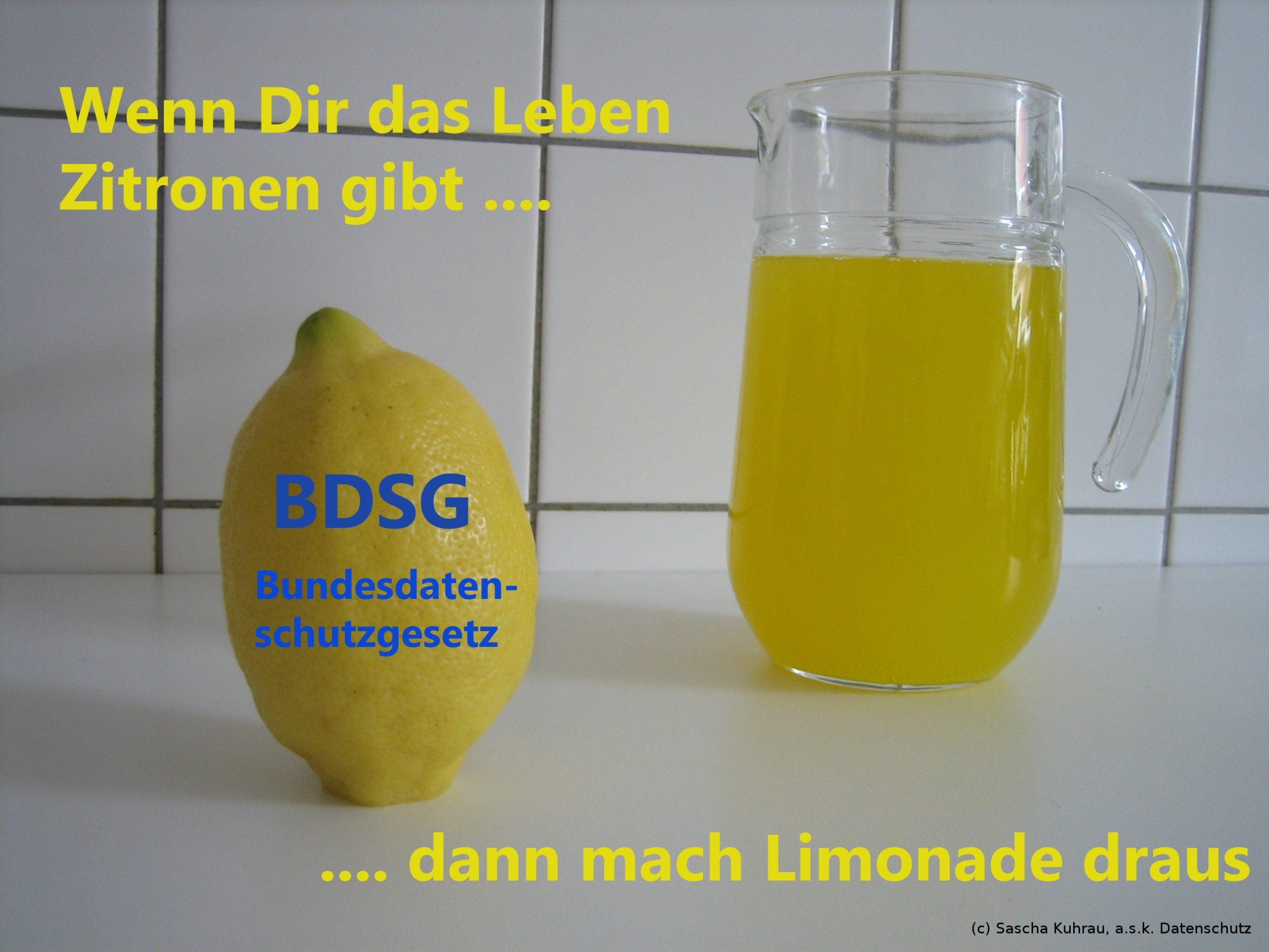 Limonade statt Zitrone