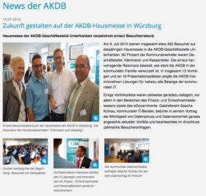 AKDB Hausmesse Würzburg 2015 (c) AKDB